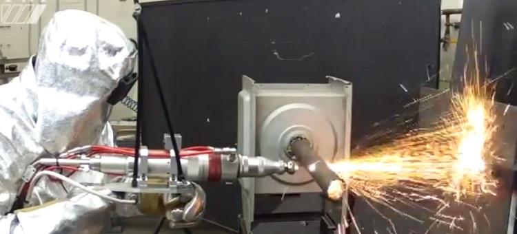 Rifle de corte a laser